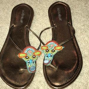 Shoes - Olivia Miller Beaded Sandals